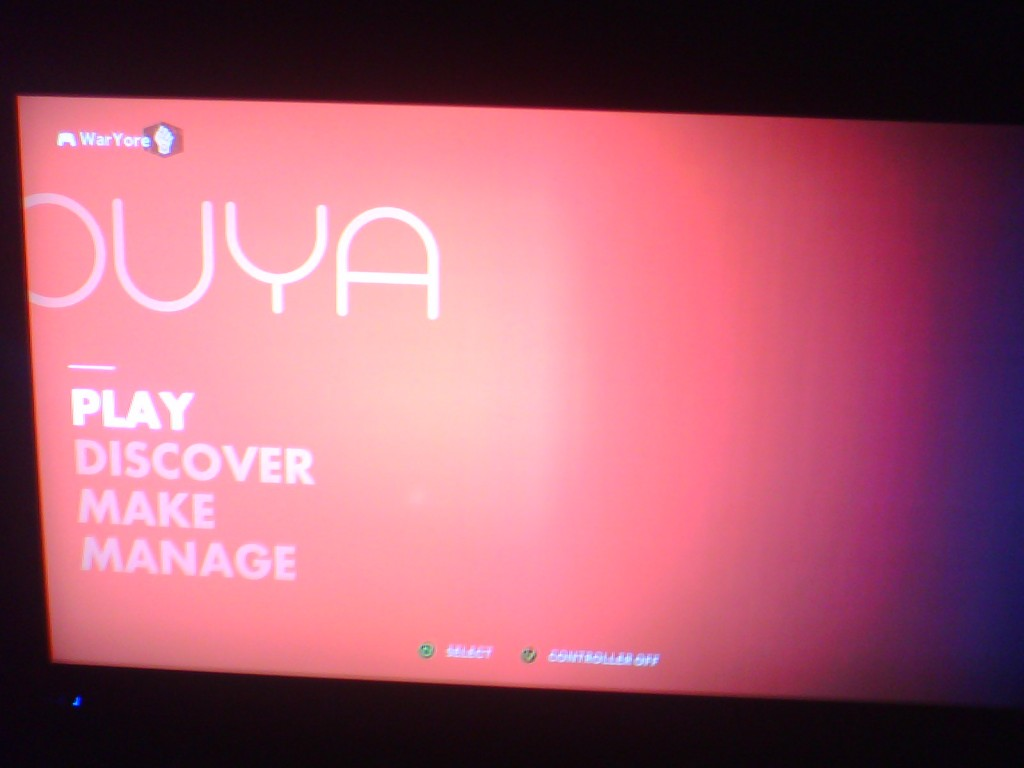 OUYA Homescreen